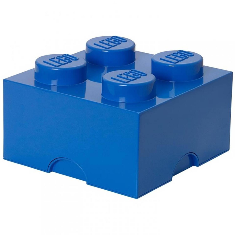 LEGO Brick 4 opbergbox - blauw