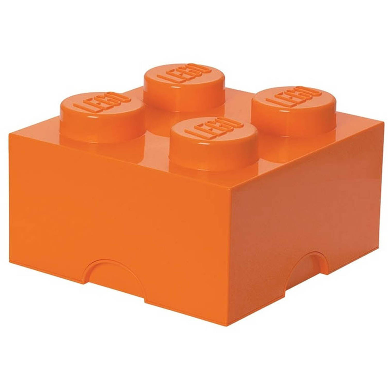 LEGO Brick 4 opbergbox - oranje