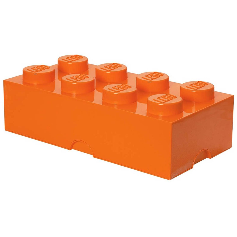LEGO Brick 8 opbergbox - oranje