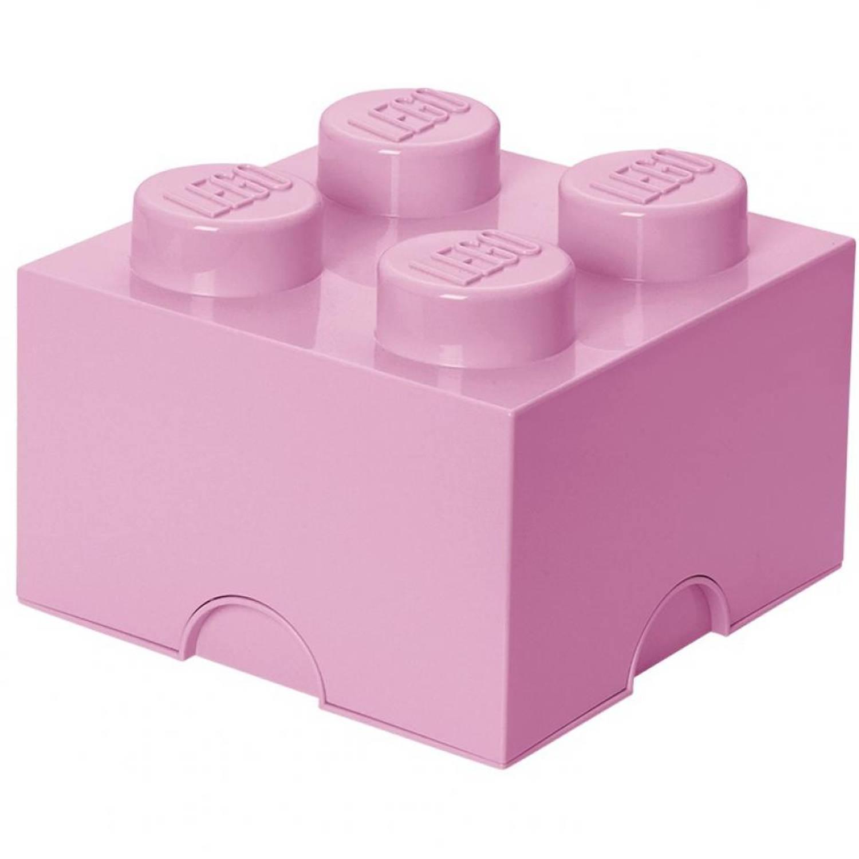 LEGO Brick 4 opbergbox - roze