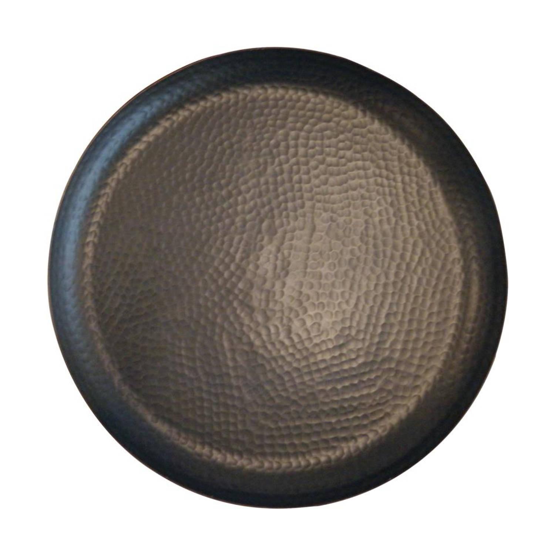 Spiksplinternieuw Gehamerde ronde schaal - groot - zwart   Blokker WK-33