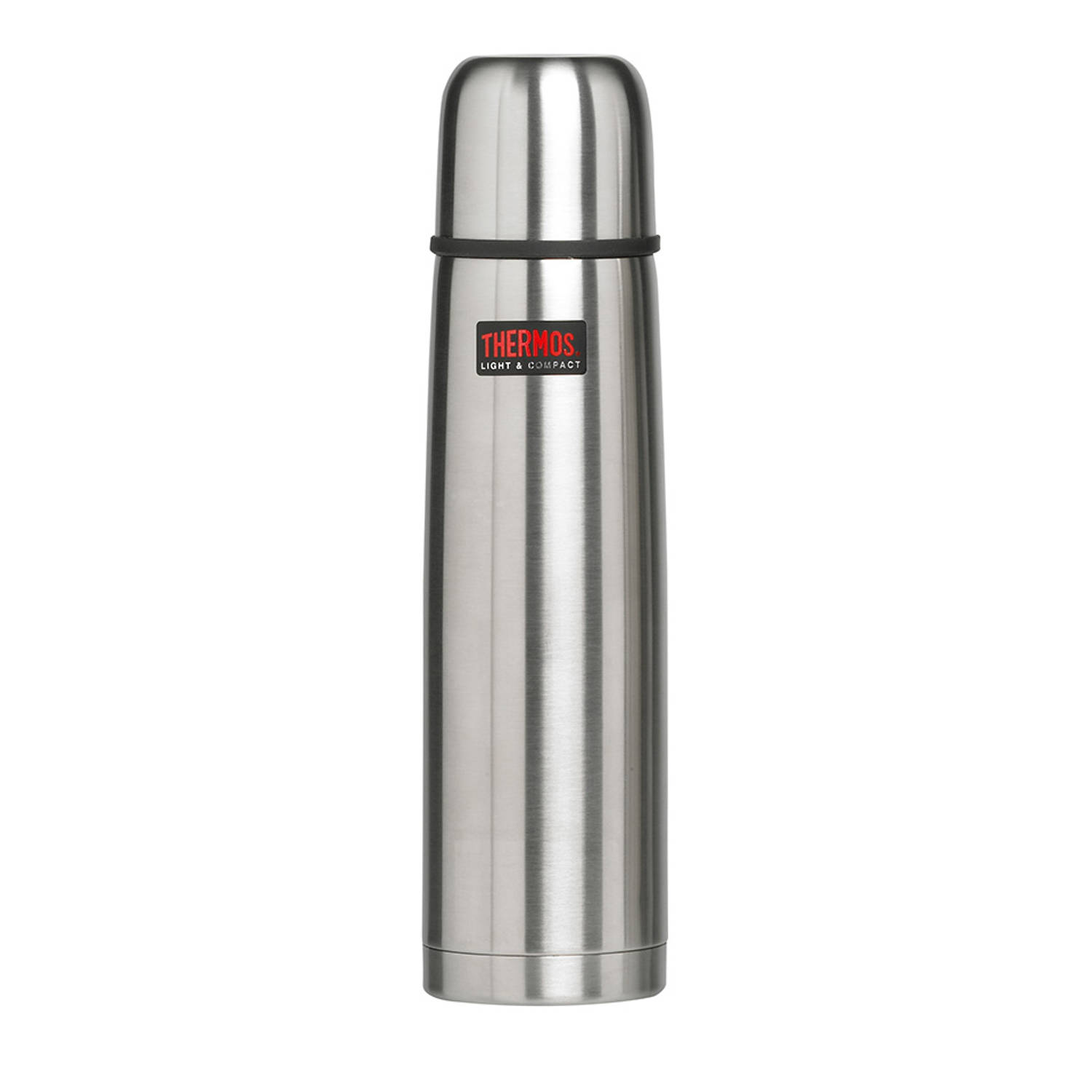 Thermos Light & Compact thermosfles - 1 l - zilverkleurig