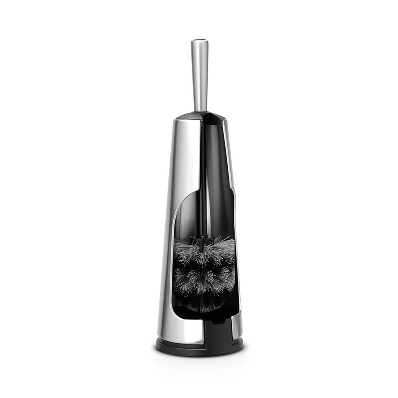 Brabantia Classic toiletborstel met houder - Matt Steel met rvs greep