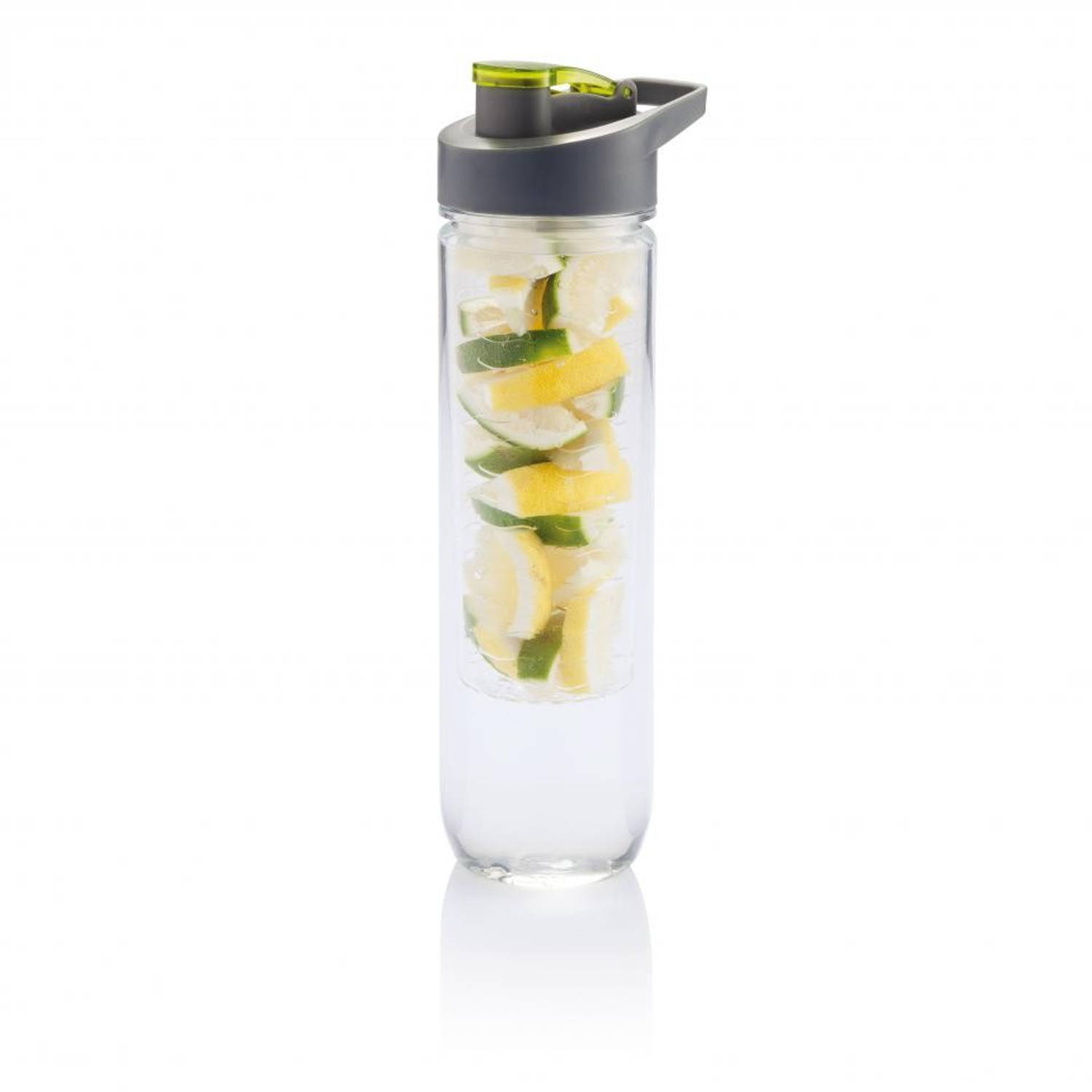 Loooqs Tritan drinkfles met fruit infuser - 800 ml - groen