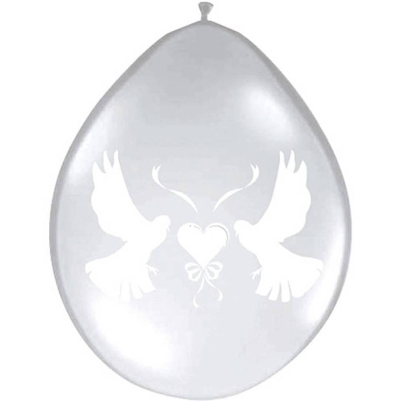 Merkloos Romantische Duiven Trouwballonnen 8 Stuks Wit online kopen