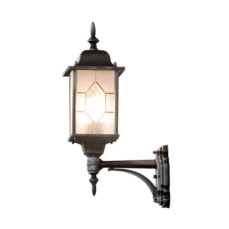 Konstsmide wandlamp Milano - zwart - 53 cm