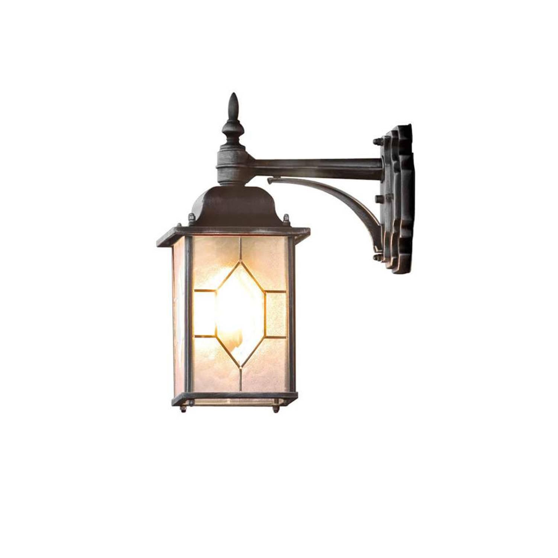 Konstsmide wandlamp Milano - zwart - 38 cm