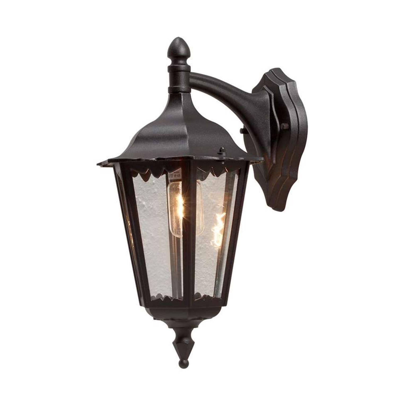 Konstsmide wandlamp Firenze - zwart - 48 cm - neerwaarts