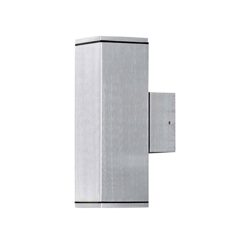 Konstsmide wandlamp Monza - zilverkleurig - 20 cm