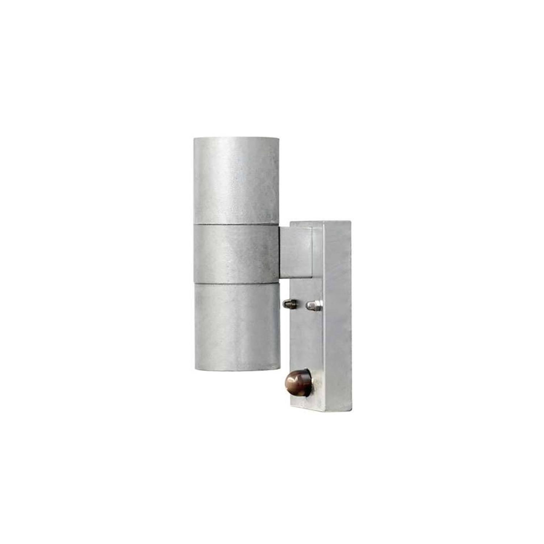 Konstsmide wandlamp Modena - staal - 20 cm - bewegingsmelder