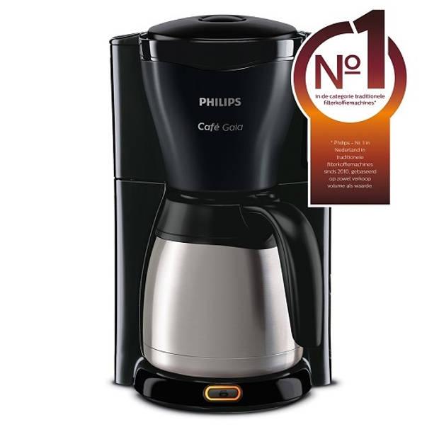 Philips filterkoffiezetapparaat Café Gaia HD7544/20 - zwart