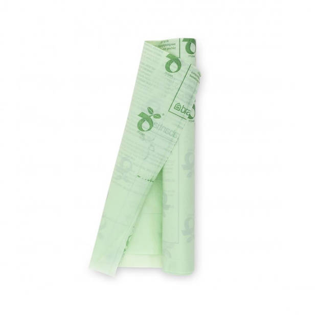 Brabantia PerfectFit composteerbare afvalzak code K, 10 liter, 10 stuks/rol - Green