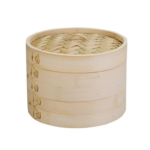 Ibili 2-laags stoommandje met deksel - bamboe