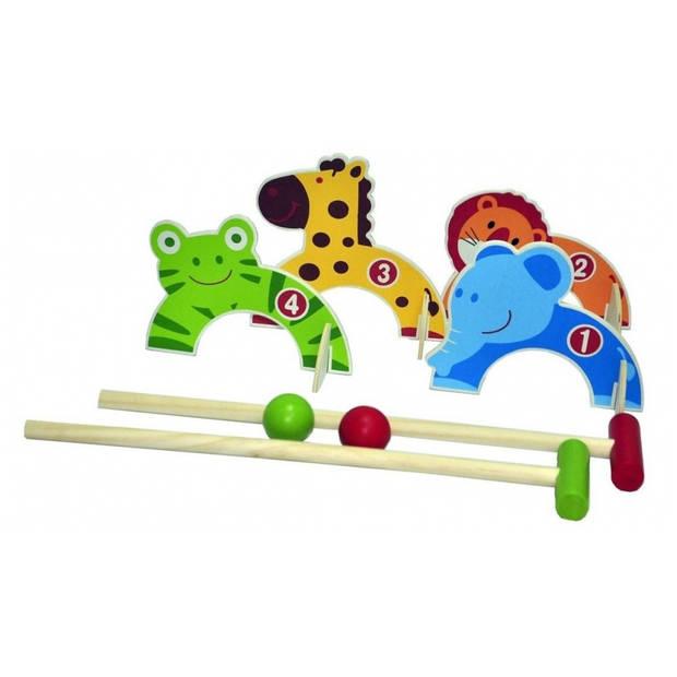 croquet set animal 8-delig