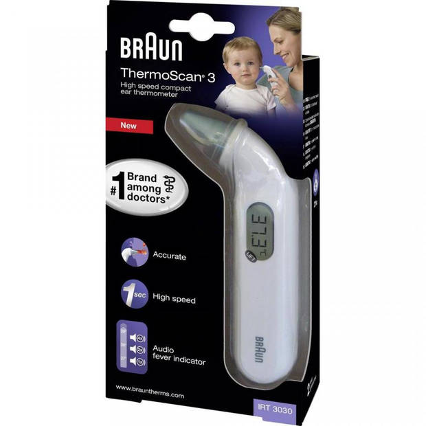 Braun Thermoscan 3 compacte oorthermometer IRT3030