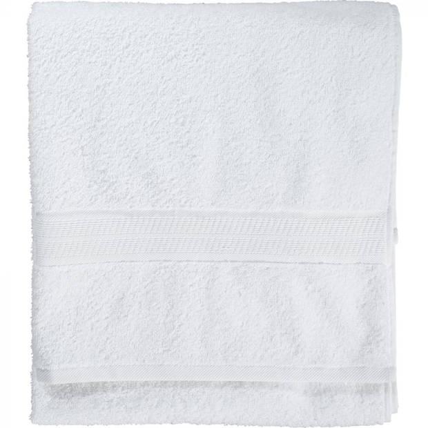 Blokker handdoek - wit - 50 x 100 cm