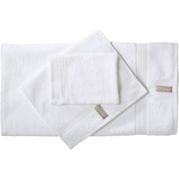Blokker handdoek 500g - wit - 110x60 cm