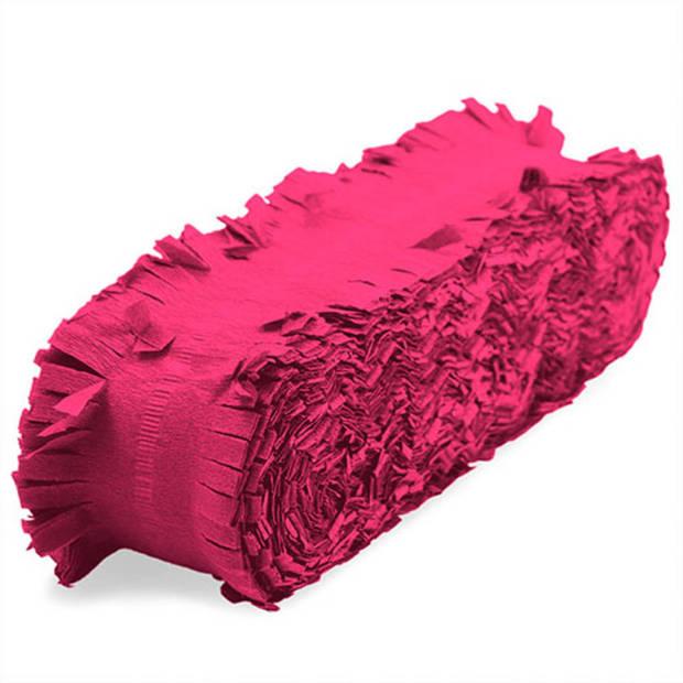 Crepe papier slinger - 18 meter - neon roze