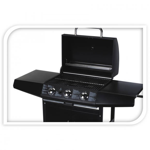 Vaggan gas barbecue grill 3 pits   Blokker