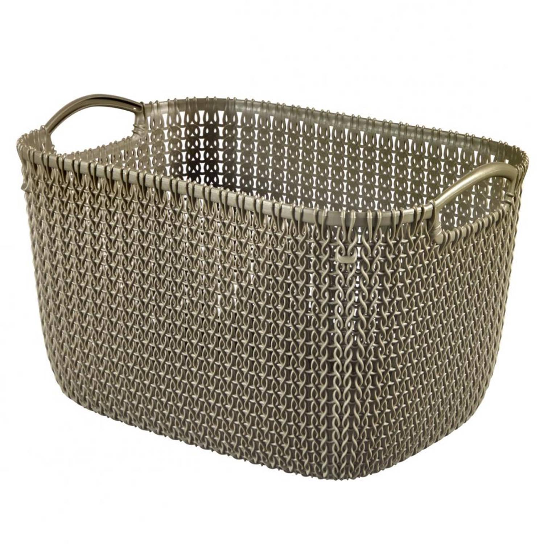Curver Knit Rect L V2 - bruin