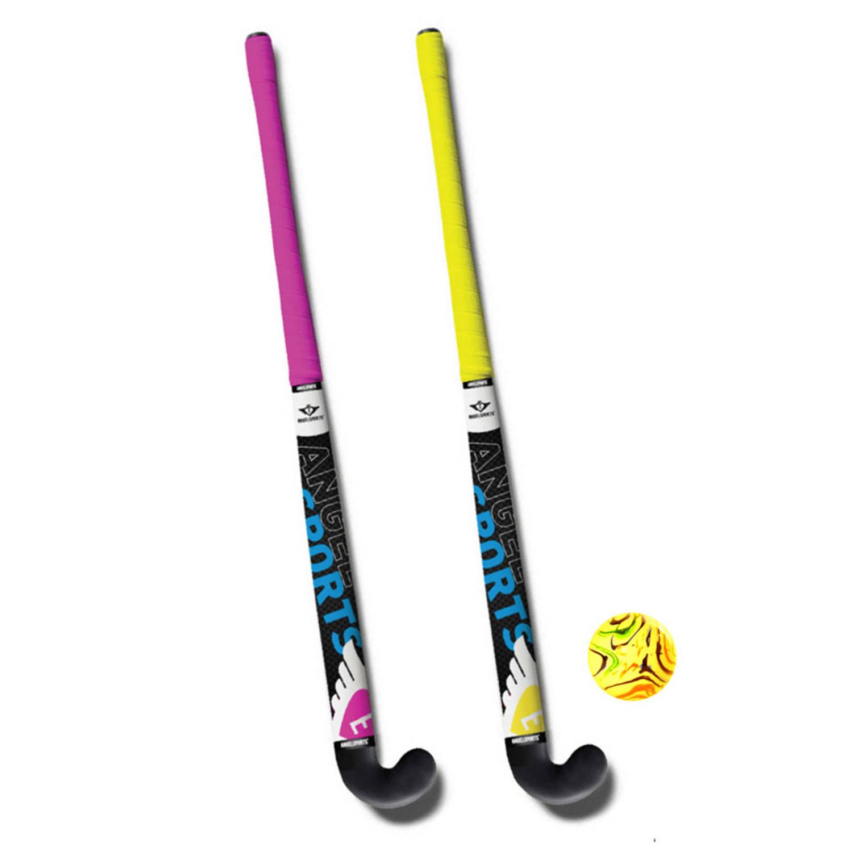 Afbeelding van Angel Sports hockeyset - 33 inch - roze/geel