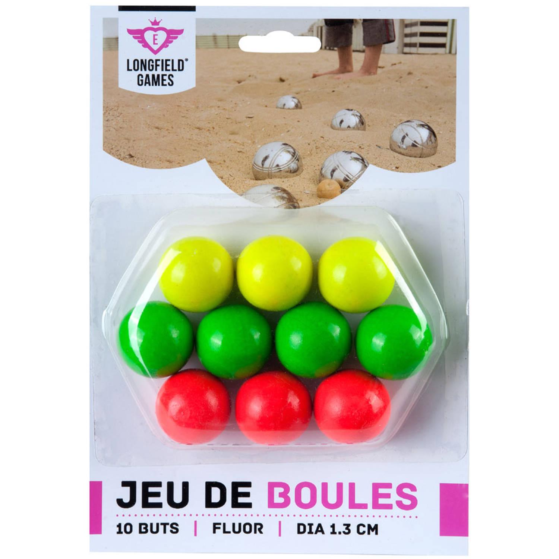 Afbeelding van Angel Sports jeu de boules buts - hout - fluor - 10 stuks