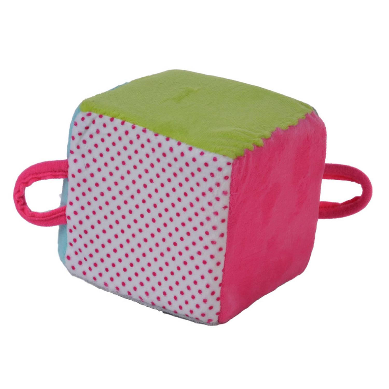 Angel Toys softkubus stof 6 kleuren pastel