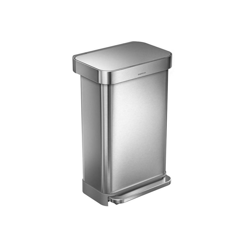 Simplehuman Liner Pocket prullenbak 45 L RVS
