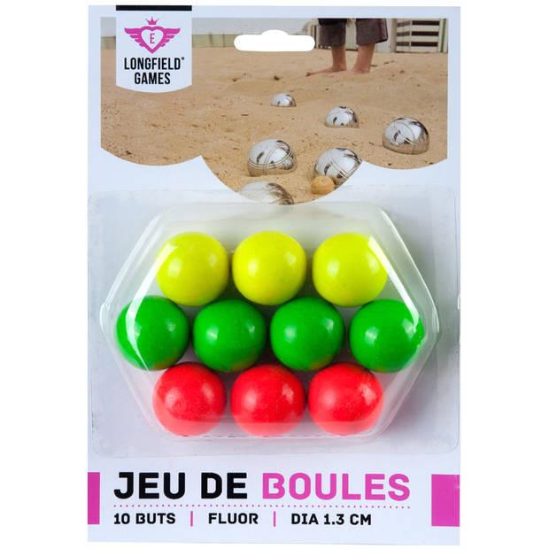 Angel Sports jeu de boules buts - hout - fluor - 10 stuks