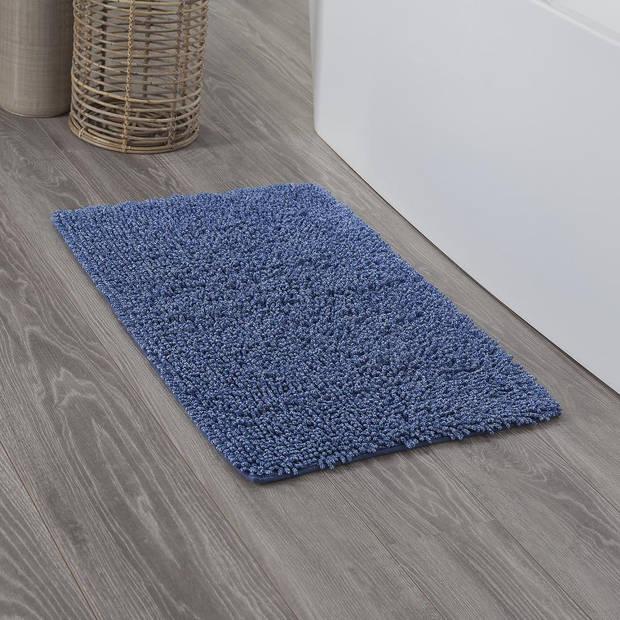 Sealskin badmat Misto - Katoen - 60 x 90 cm - Blauw