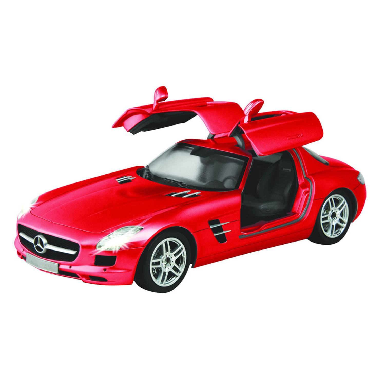 Afbeelding van Op afstand bestuurbare auto Racetin Mercedes-Benz SLS AMG 1:16 - rood