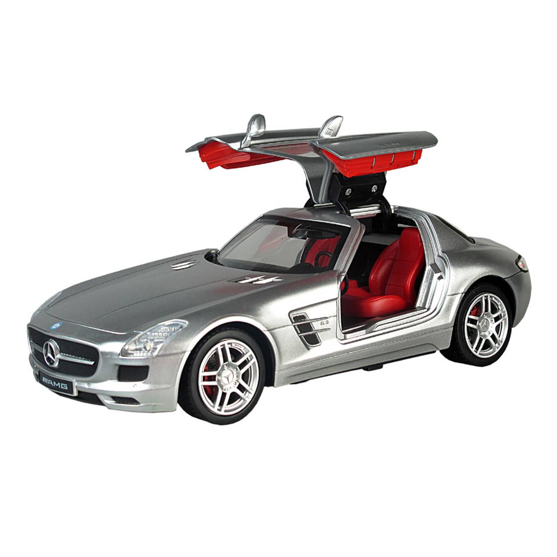 Afbeelding van Op afstand bestuurbare auto Racetin Mercedes-Benz SLS AMG 1:16 - grijs
