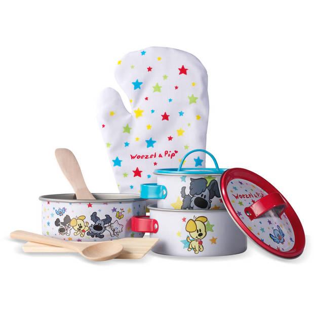 Woezel & Pip 9-delige speelgoed Kookset