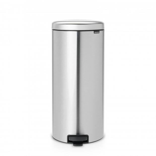 Brabantia newIcon pedaalemmer 30 liter met kunststof binnenemmer - Matt Steel Fingerprint Proof