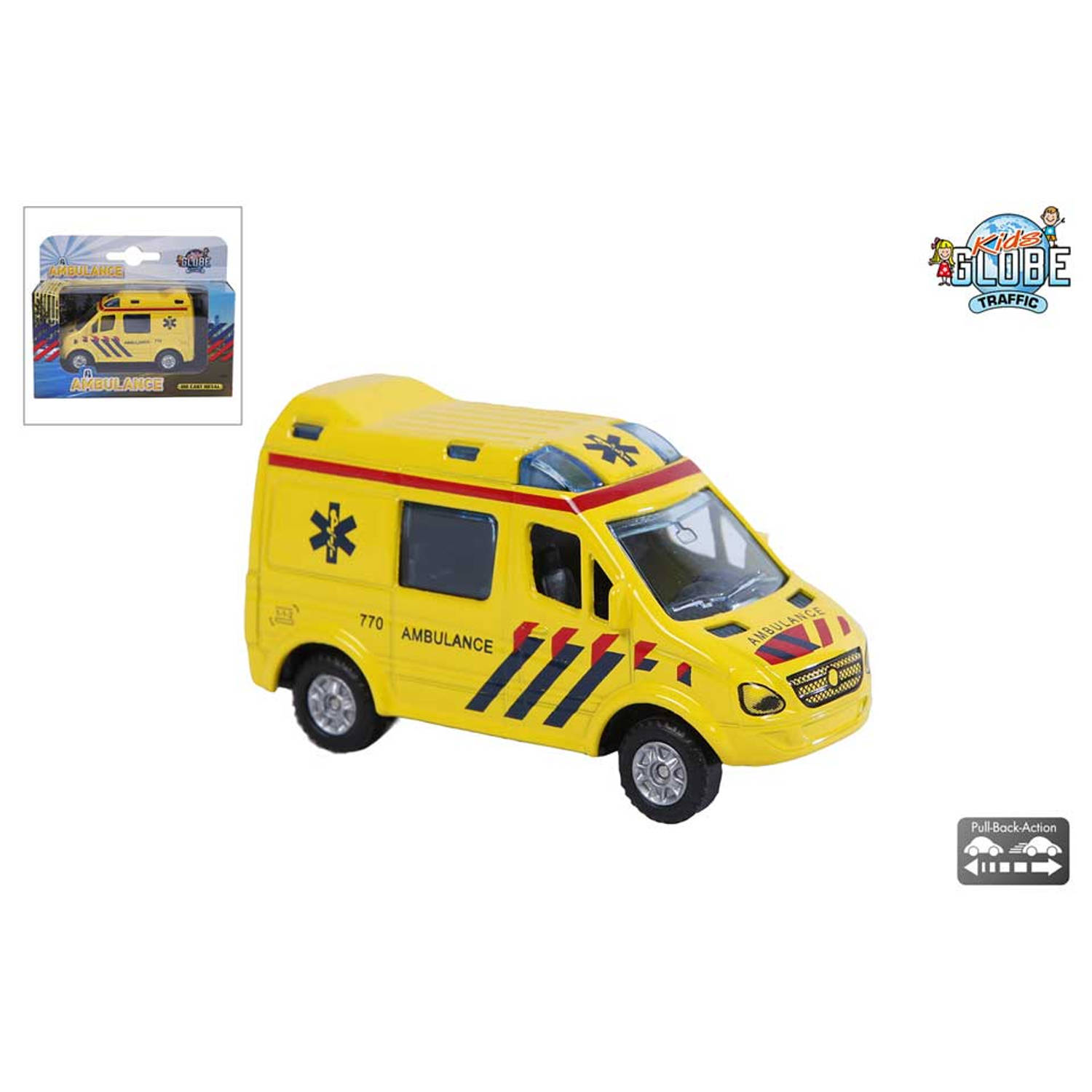 Kids Globe Traffic die cast ambulance