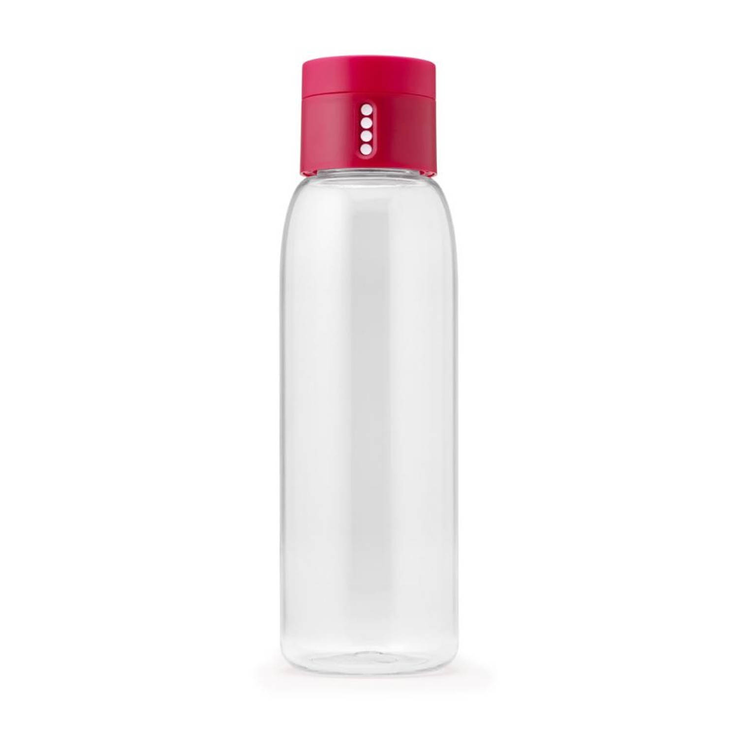 Joseph Joseph Dot hydration-tracking drinkfles - 600 ml - roze