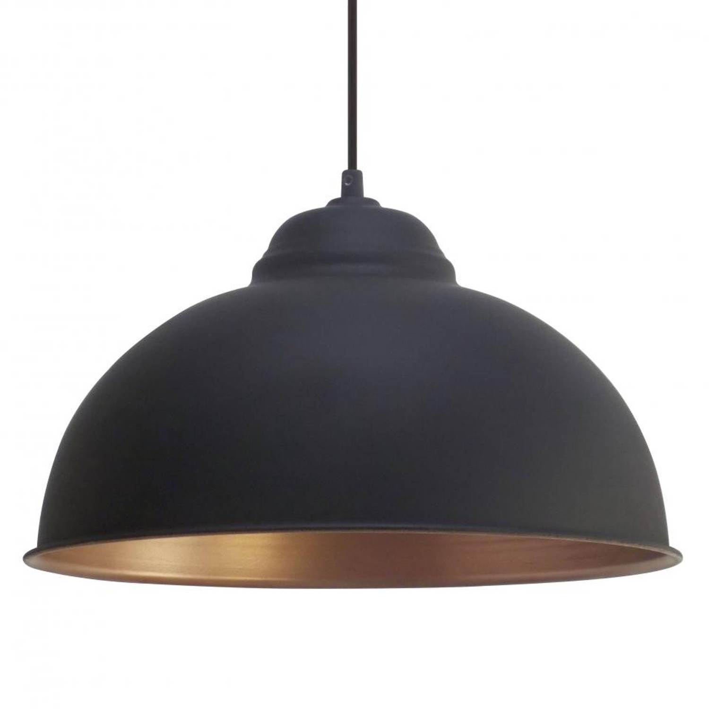 Eglo Hanglamp Zwart-Koper Truro 2