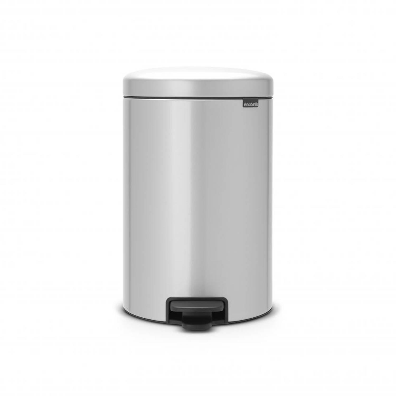 Brabantia newIcon pedaalemmer 20 liter met kunststof binnenemmer - Metallic Grey