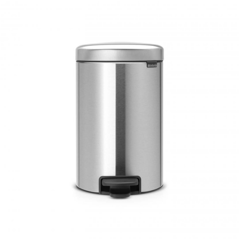Korting Brabantia Newicon Pedaalemmer 12 Liter Met Kunststof Binnenemmer Matt Steel