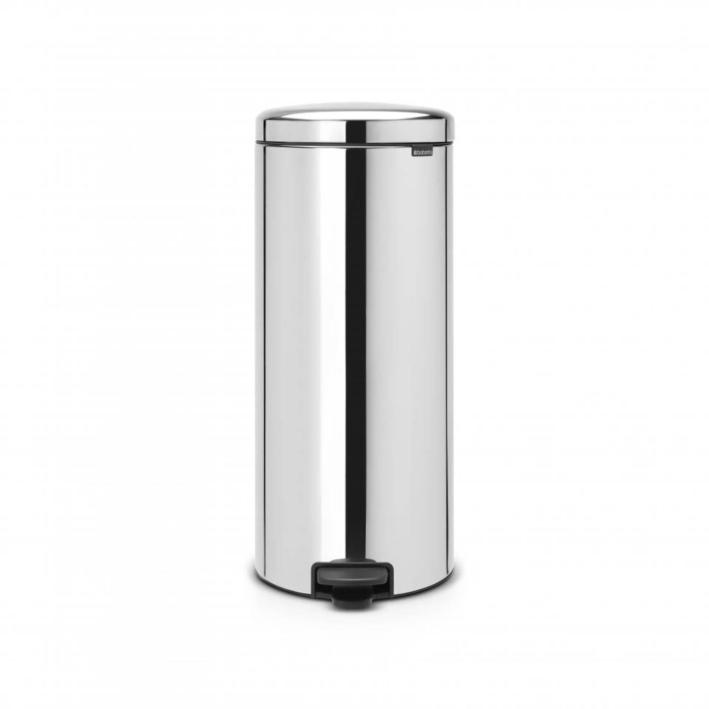 Brabantia newIcon pedaalemmer 30 liter met kunststof binnenemmer - Brilliant Steel