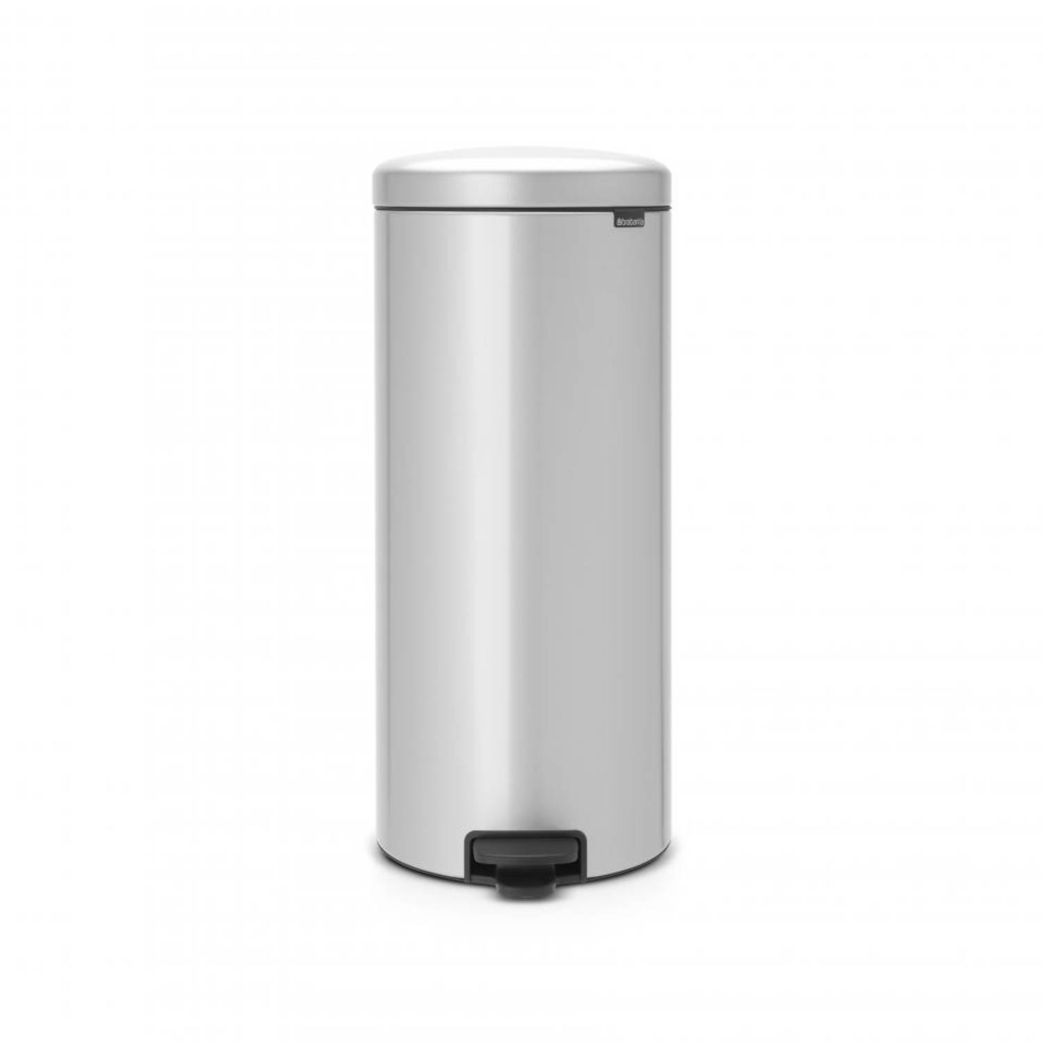 Brabantia New Icon Pedaalemmer 30L Metallic Grey