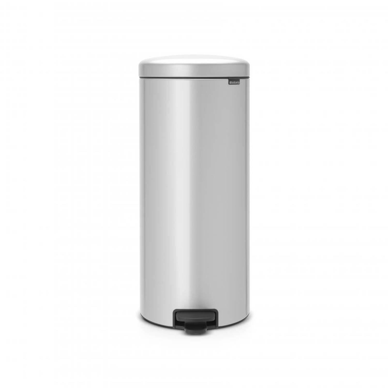 Korting Brabantia newIcon pedaalemmer 30 liter met kunststof binnenemmer Metallic Grey