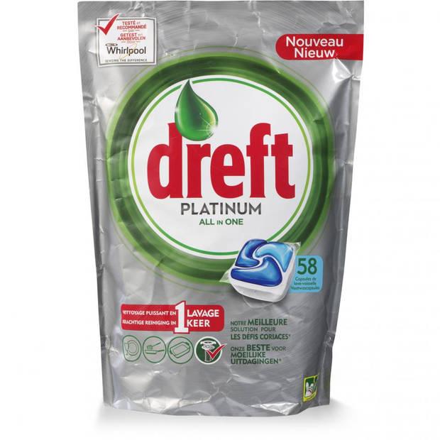 De Dreft Platinum All in One vaatwastabletten - 58 stuks