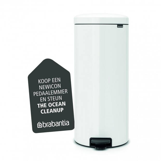 Brabantia newIcon prullenbak - 30 liter - White