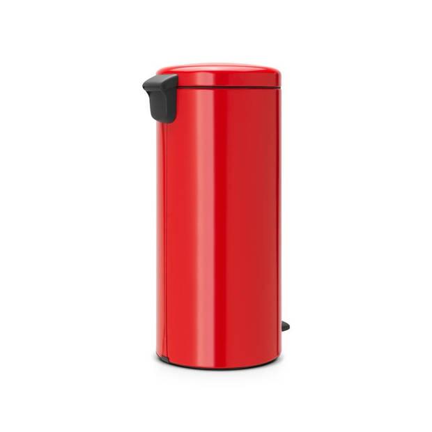 Brabantia newIcon pedaalemmer 30 liter met kunststof binnenemmer - Passion Red