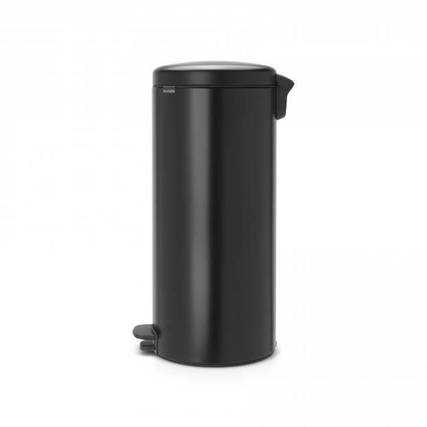 Brabantia newIcon pedaalemmer 30 liter met kunststof binnenemmer - Matt Black