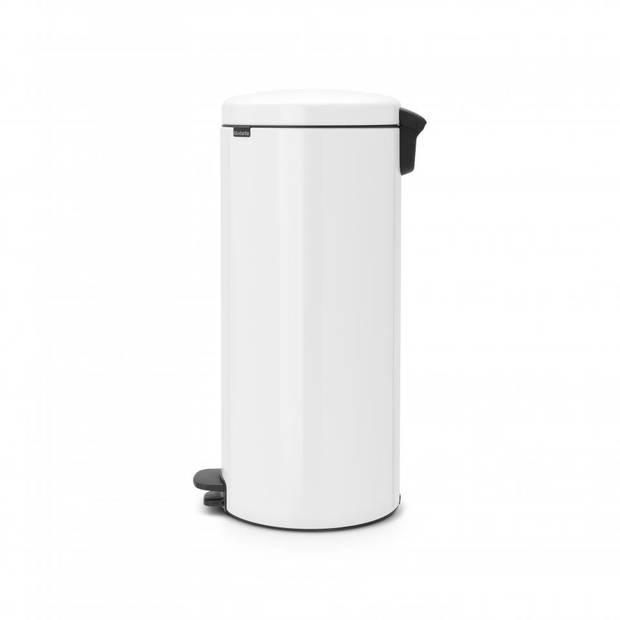 Brabantia newIcon pedaalemmer 30 liter met metalen binnenemmer - White