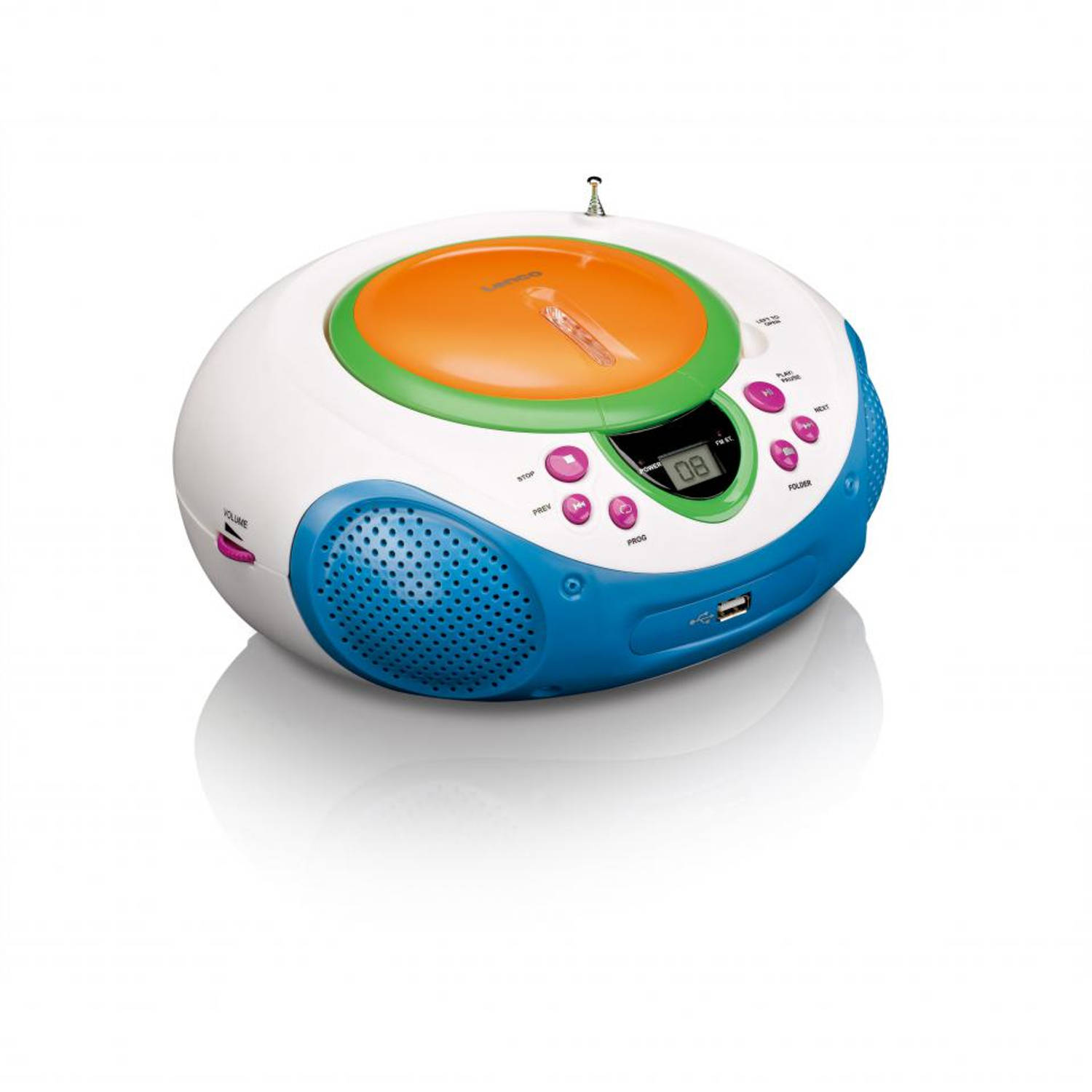 Lenco radio/cd-speler scd-40 - kids