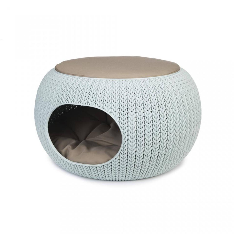 Curver Cozy pet home - lichtblauw - 55 cm