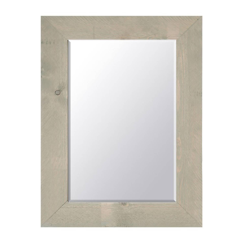 Dmc spiegel steigerhout 58 x 78 cm greywash blokker for Xenos spiegel